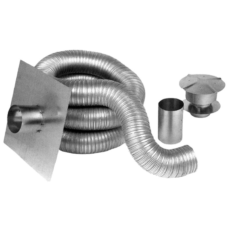 Z Flex Aluminum Chimney Gas Liner Kit 4 Quot Diameter X 35