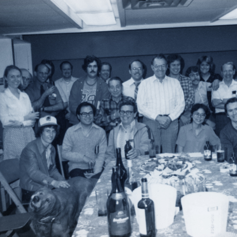 historic image of rsl employees circa 1970s