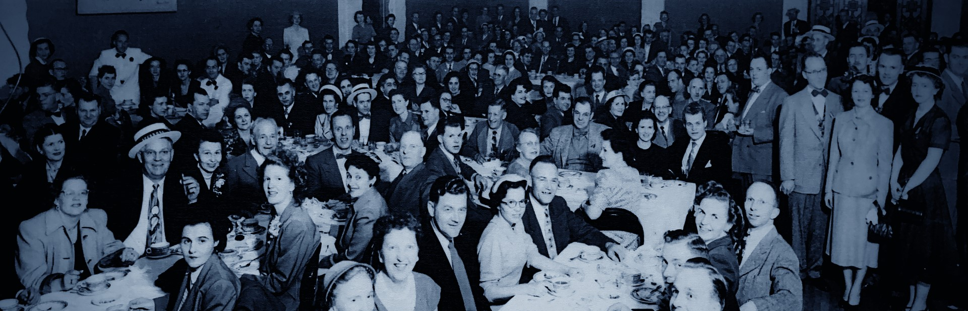 historic image of hvac convention dinner party in 1952